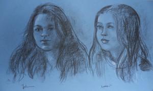 Dubbelportret van Julienne en Lotti