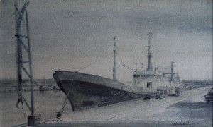 De Vlaardingen 89 in de haven van Ijmuiden