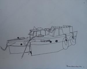 Corsair, bootje op Barbados