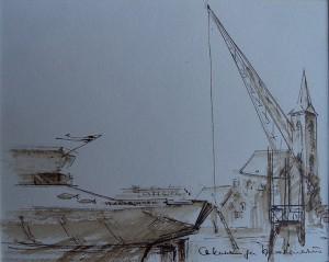 Haven met Vlaardings Haringschip