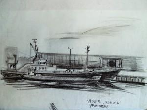 De Vlaardingen 89 ('Monica') in de haven van Ijmuiden