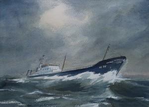 De Vlaardingen 70 ('Astrid') op ruwe zee
