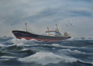 De Katwijk 174 ('Dirk Dirk') op zee