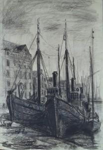 Boten in de Vlaardingse haven