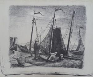 Haven met vissersboot