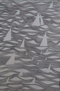 Geabstraheerde compositie (Boten op zee?)