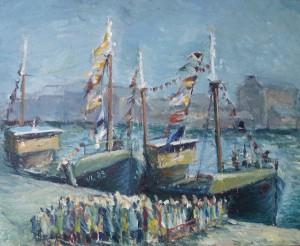 Feestelijkheden haven Vlaardingen met VL 85
