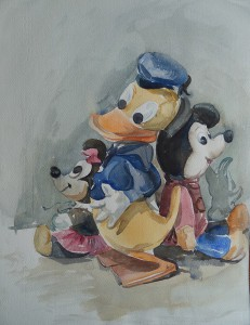 Speelgoed' (Donald Duck, Mickey en Minnie Mouse)