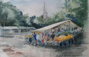Markt (met uitzicht Dorpskerk)