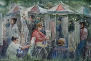 Schildersgroep Wassenaar buiten