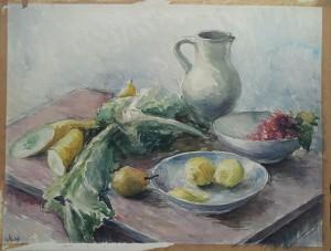 Stilleven met fruit en groenten