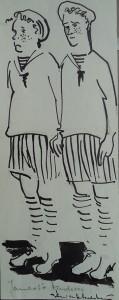 Striptekening 'Geheim van de idioot' Boekenbal