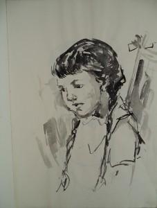 Enkele portretten van meisjes