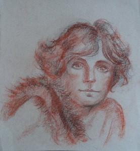 Tekenblok met losse modeltekeningen van naaktmodellen, enkele portretten, o.a. modellen Harriet, Gerda, Bart, Agnes, Yvonne, Arno
